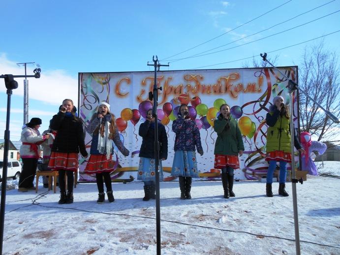 Самые ловкие жители с. Давыдовка получили главные призы Масленицы