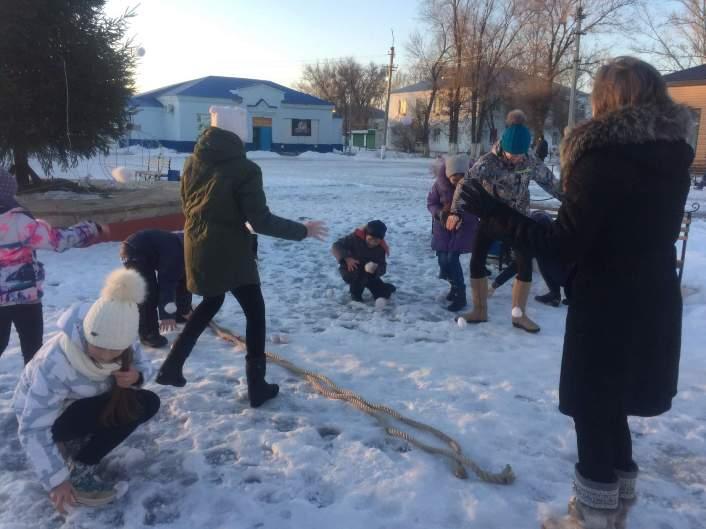 Зимние праздники в пос.Заволжский