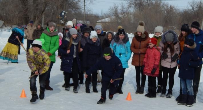 Масленичные гулянья в посёлке Солянский