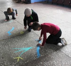 Дети с. Рахмановка нарисовали весну