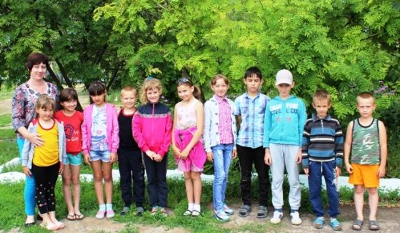 Дети с.Рахмановка активно отдыхают летом