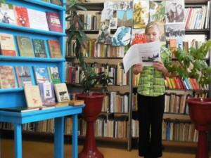 В библиотеке п.Чапаевский дети читали о войне