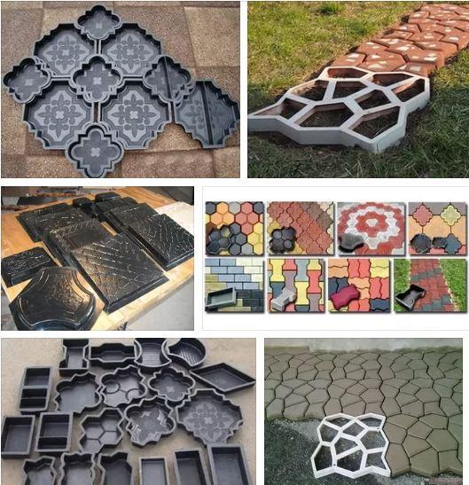 пластиковых форм для тротуарной плитки
